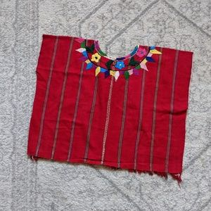 Latin American woven crop top handmade